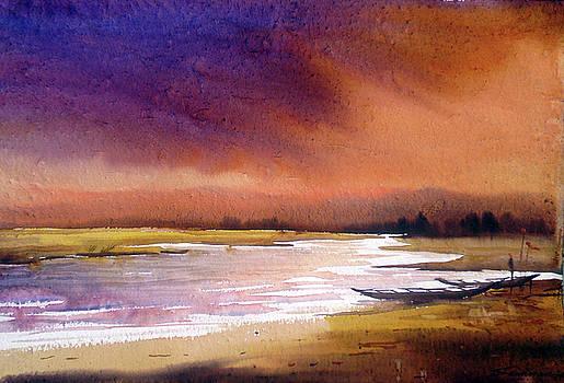 Monsoon River by Samiran Sarkar