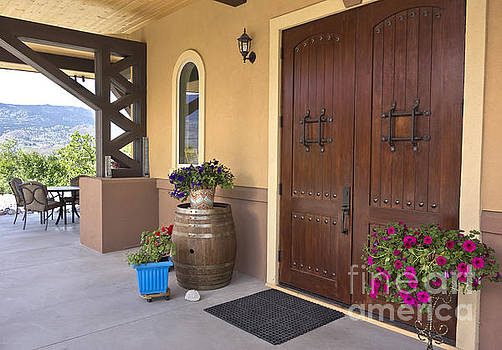 Montakarn Winery Door by Maria Janicki