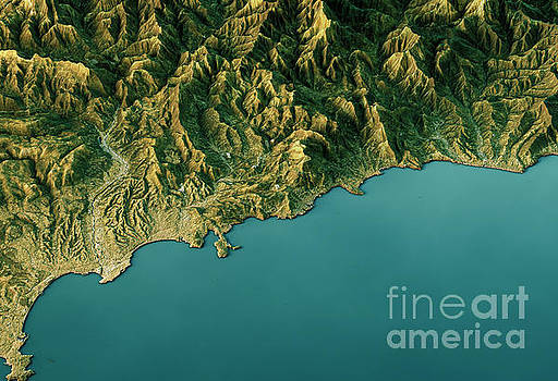 Monte Carlo 3D Landscape View South-North Natural Color by Frank Ramspott