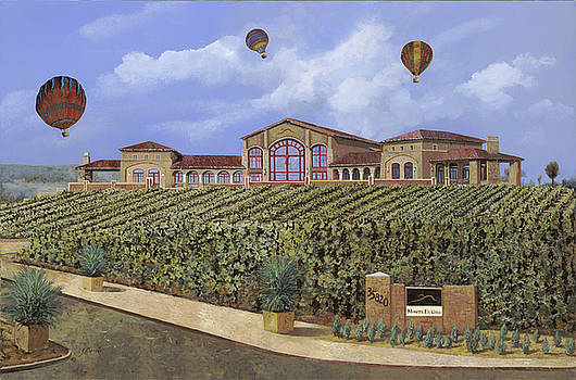 Monte de Oro and the air balloons by Guido Borelli