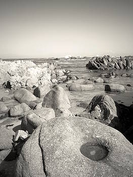 Joyce Dickens - Monterey Bay Low Tide Black And White