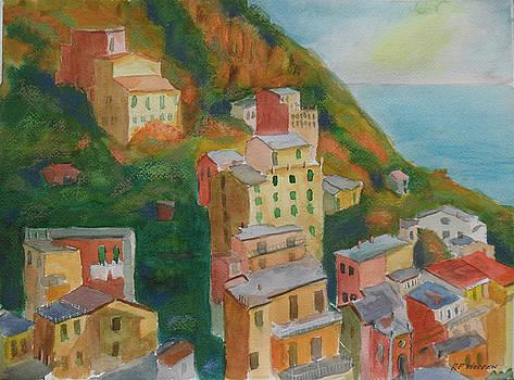 Monterosso Cinque Terre Last Light by Robert P Hedden