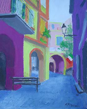 Monterosso Italy Via Baranco by Robert P Hedden