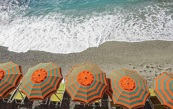 Monterosso Umbrellas by Brad Scott