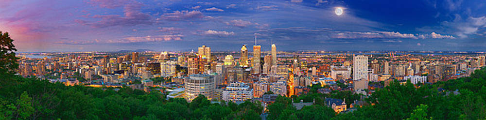 Montreal At Night by Laurent Lucuix