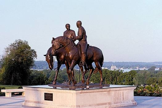 Kim Corpany - Monument in Nauvoo Illinois of Hyrum and Joseph Smith riding their horses