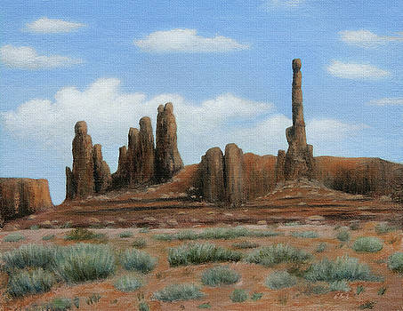 Monument Valley Architecture by Gordon Beck