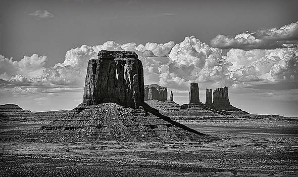 Monument Valley in Black and White  by Saija Lehtonen