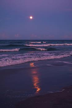 Moon at he beach 8-17-16 by Julianne Felton