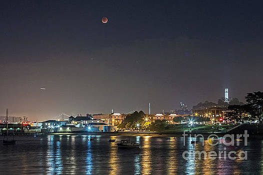 Moon over Aquatic Park by Kate Brown