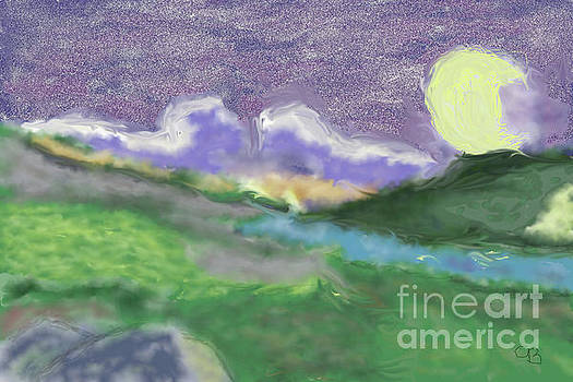 Moon Over Land by Arlene Babad