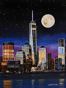 Moon Over Manhattan by Bill Dunkley