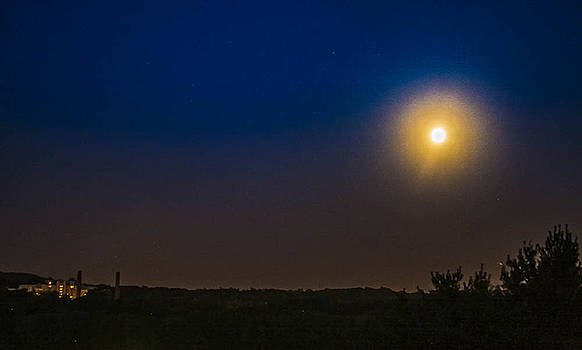 Moon over Rockland State by Kathleen McGinley