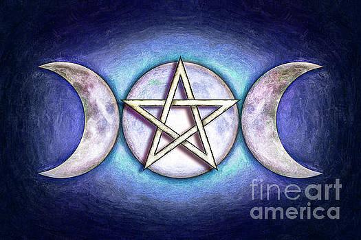 Moon Pentagram - Tripple Moon 1 by Dirk Czarnota