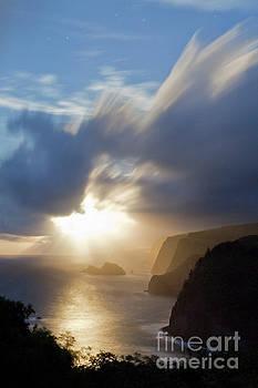 Charmian Vistaunet - Moon Rays over North Kohala Cliffs