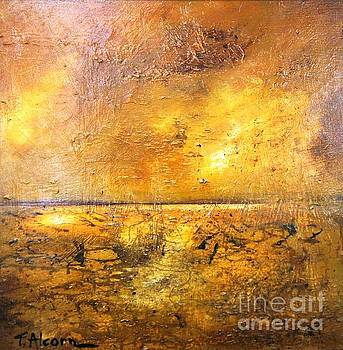 Moonlight on Mud Flats by Therese Alcorn