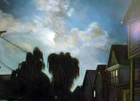Moonlit Backyards by George Grace