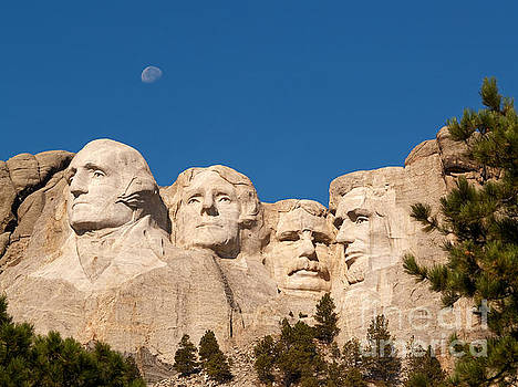 Moonrise over Mount Rushmore by Alex Cassels