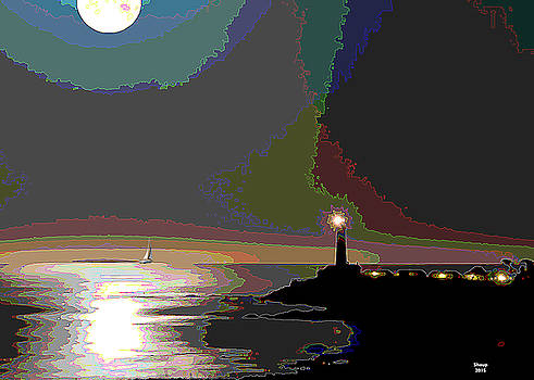 Moonset by Charles Shoup