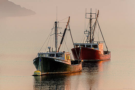 Moored At First Light by Marty Saccone