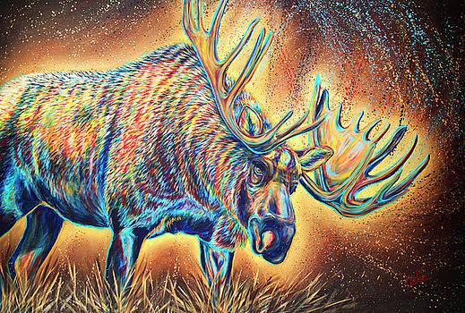Moose Madness by Teshia Art