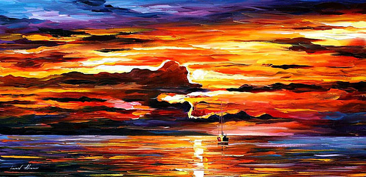 Morning After The Storm - PALETTE KNIFE Oil Painting On Canvas By Leonid Afremov by Leonid Afremov