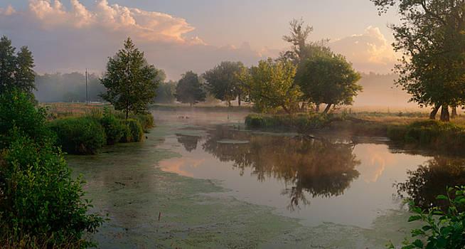 Morning at the river by Sergey Ryzhkov