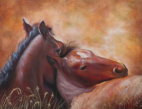 Morning Foals by Karen Kennedy Chatham