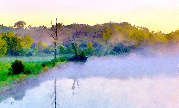Morning Mist Over Lake 2 by Susanna  Katherine