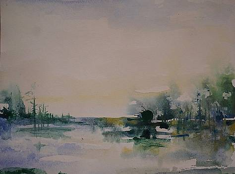 Morning River Abstract by Robin Miller-Bookhout