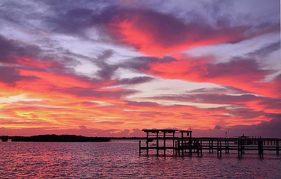 Morning River boat dock by Julianne Felton