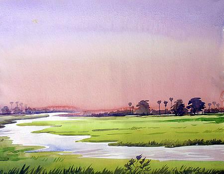 Morning Rural Landscape by Samiran Sarkar