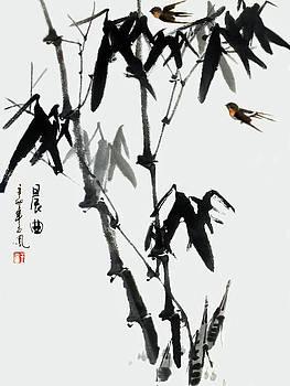 Bamboo and Birds by Yufeng Wang