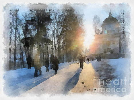 Morning Winter Russia by Yury Bashkin