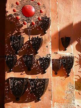 Yvonne Ayoub - Morocco Marrakesh Market metal lamps
