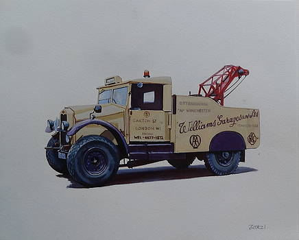 Morris Commercial wrecker. by Mike Jeffries