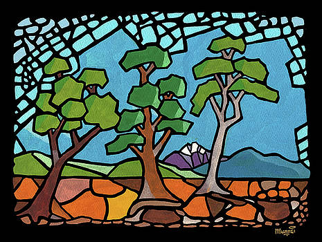Mosaic Trees by Anthony Mwangi