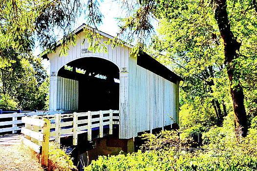 Mosbey Creek Stewart Covered Bridge by Ansel Price