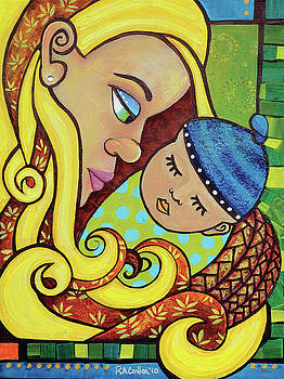 Mother and Child 1 by Rachel M Cotton