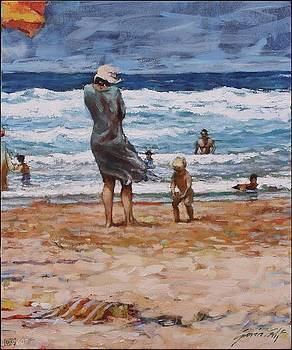 Mother and Child Brenton-on-Sea by Gavin Calf