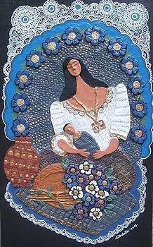 Mother And Child-flower Vendor by Otil Rotcod