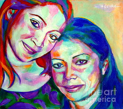 Mother and daughter by Helena Wierzbicki