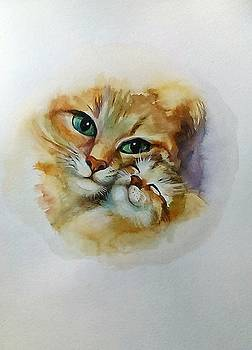Mother -Cat by Valeriya Temnenko