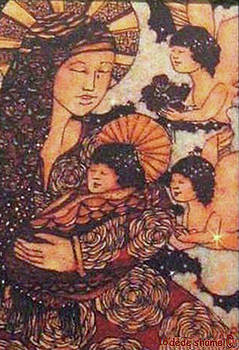 Mother Child and Angels by Dede Shamel Davalos