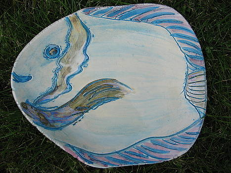 Mother of Pearl -Fish by Julia Van Dine