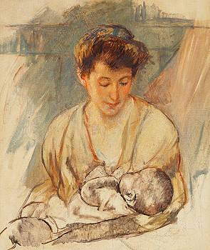 Mary Stevenson Cassatt - Mother Rose Looking Down at her Sleeping Baby