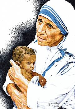 Mother Theresa and baby by Judy Skaltsounis