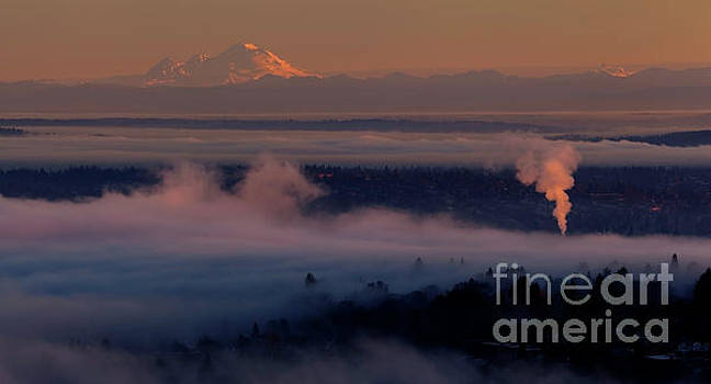 Mount Baker in the Distance by Mike Reid