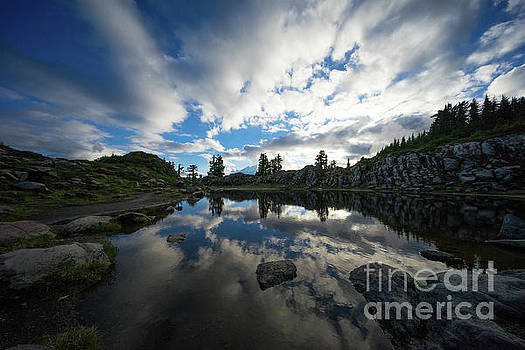 Mount Baker Tarn Cloudscape by Mike Reid