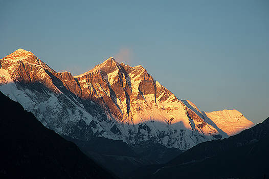 Mount Everest and Lhotse by Marlene Ford